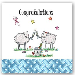 Congratulations Sheep Occasions Card