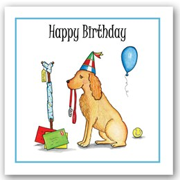 Birthday Dog (garden) Occasions Card