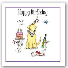 Birthday Dog (mice) Occasions Card