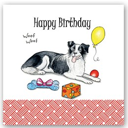 Birthday Collie Occasions Card