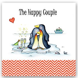 Happy Couple Penguins Occasions Card