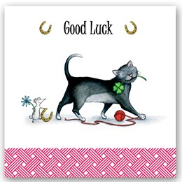Good Luck Cat Occasions Card