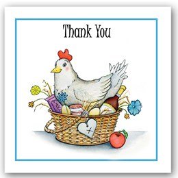 Thank You Chicken Occasions Card