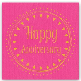 Happy Anniversary Foiling Card