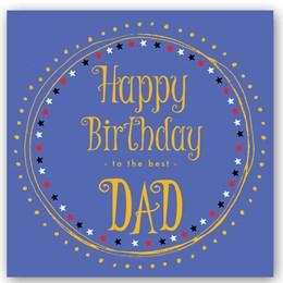 Happy Birthday Dad Foiling Card