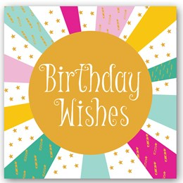Birthday Wishes Foiling Card
