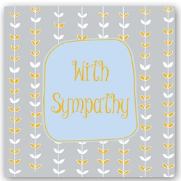 With Sympathy Foiling Card