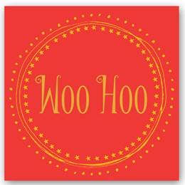 Woo Hoo Foiling Card