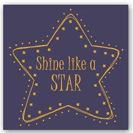 Shine Like a Star Foiling Card