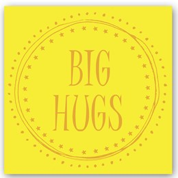 Big Hugs Foiling Card