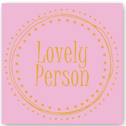 Lovely Person Foiling Card