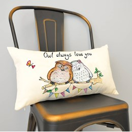 Owl Love Cushion Small