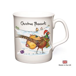 Pheasants Christmas Mug