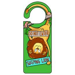 Sleeping Lion Door Hanger