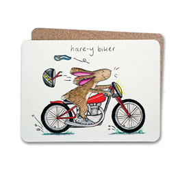 Hare-y Biker Table Mat