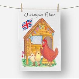 Cluckingham Palace Tea Towel