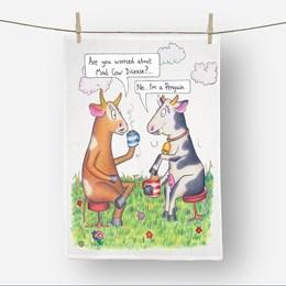 Mad Cow Tea Towel
