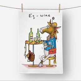 Eq-Wine Tea Towel