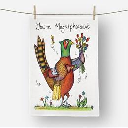 Magnipheasant Tea Towel