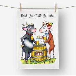 Talk Bullocks Tea Towel