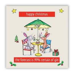 99% Gin Christmas Greeting Card