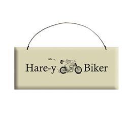 Hare-y Biker Sign