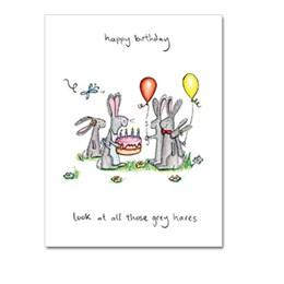 Grey Hares Greeting Card