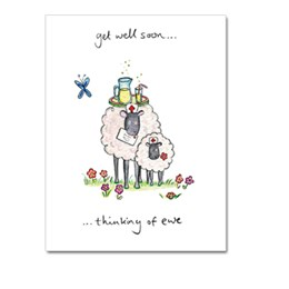 Get Well Soon Ewe Greeting Card