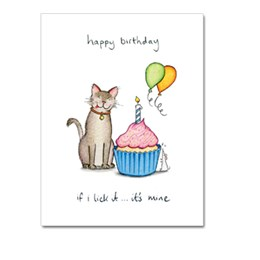 If I Lick It Greeting Card