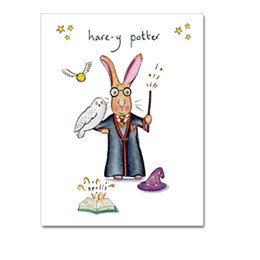 Hare-y Potter Greeting Card