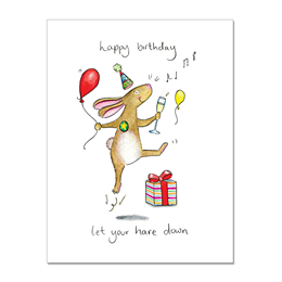Hare Down Greeting Card