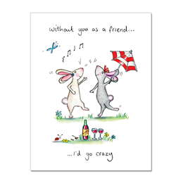 Go Crazy Greeting Card