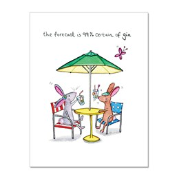 99% Gin Greeting Card