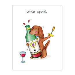 Corker Spaniel Greeting Card