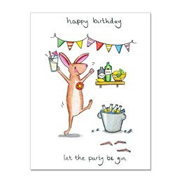 Party Be Gin Greeting Card