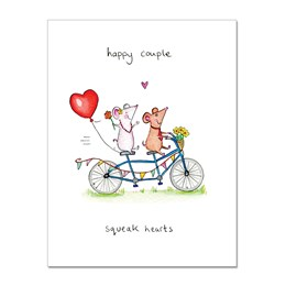 Squeak Hearts Greeting Card