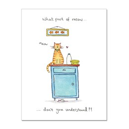 What Part of Meow Greeting Card