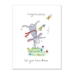 Congratulation Hare Greeting Card