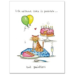 Without Cake Greeting Card