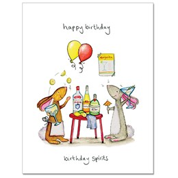 Birthday Spirits Greeting Card