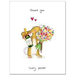 Thank You Lovely Person Greeting Card