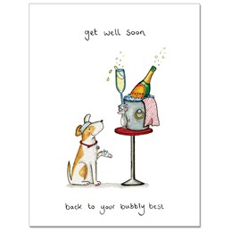 Bubbly Best Greeting Card