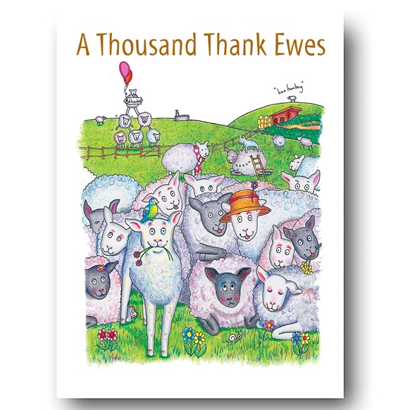 Thousand Thank Ewes Greeting Card