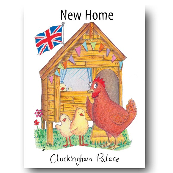 Cluckingham Palace Greeting Card