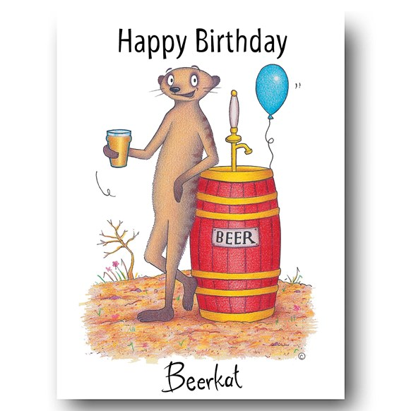 Beerkat Greeting Card