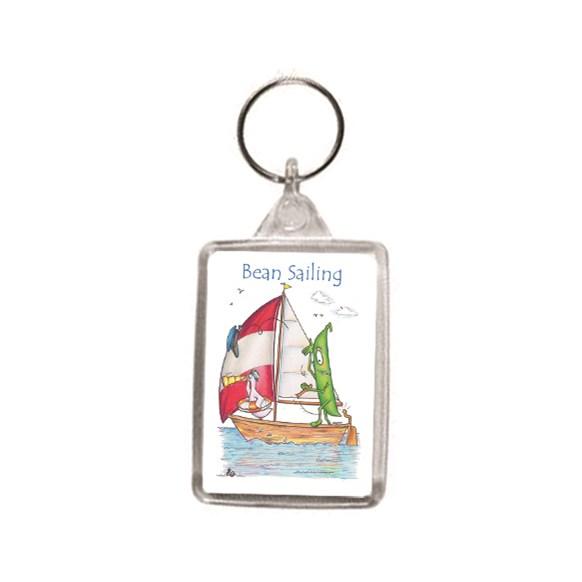 Bean Sailing Key Ring