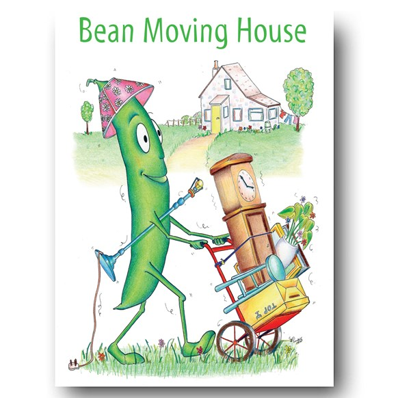 Bean Moving House Greeting Card