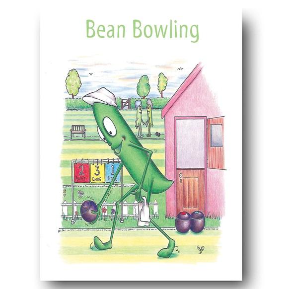 Bean Bowling Greeting Card
