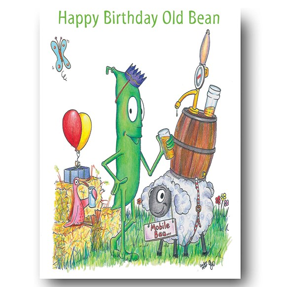 Old Bean Greeting Card