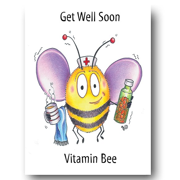 Vitamin Bee Greeting Card